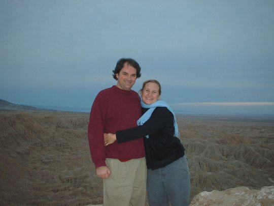 G and M at Font's Point - Borrego Badlands