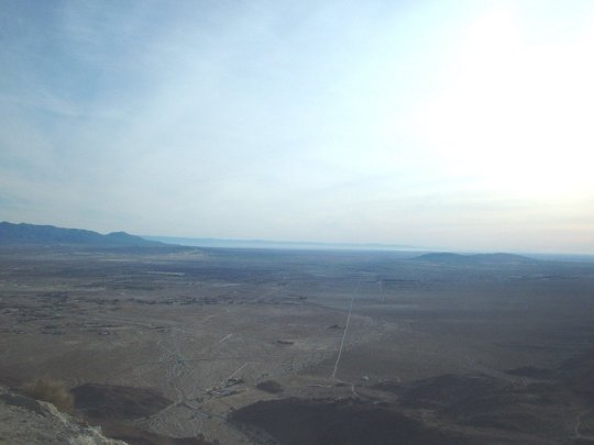 View of the Anza-Borrego Desert from hwy S22