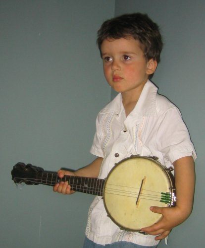 Sean with our new banjolele