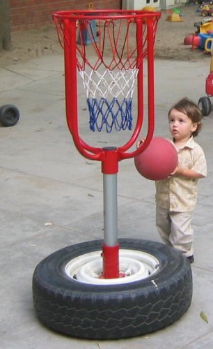 Sean shooting hoops