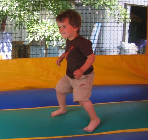 Sean in the bounce house today
