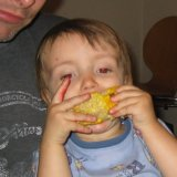 Xander loves corn
