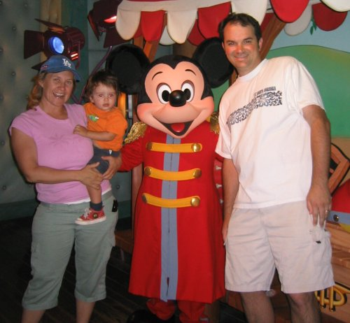 Our family with our friend Mickey