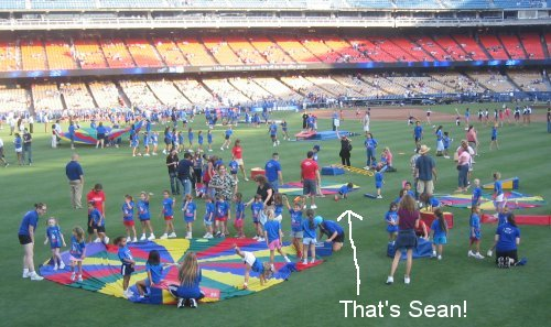 There's me on the field