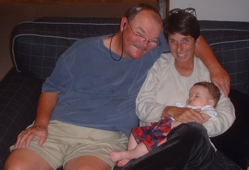Grandparents and Sleepy Sean