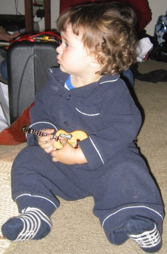 Sean with his guitornament