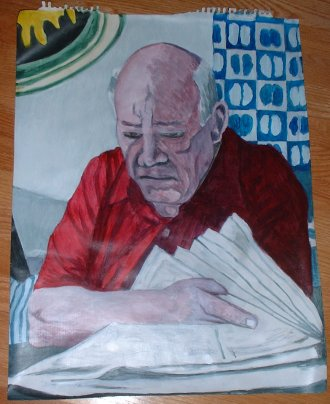 Eric Hoffer reading the paper - stage1 by GM