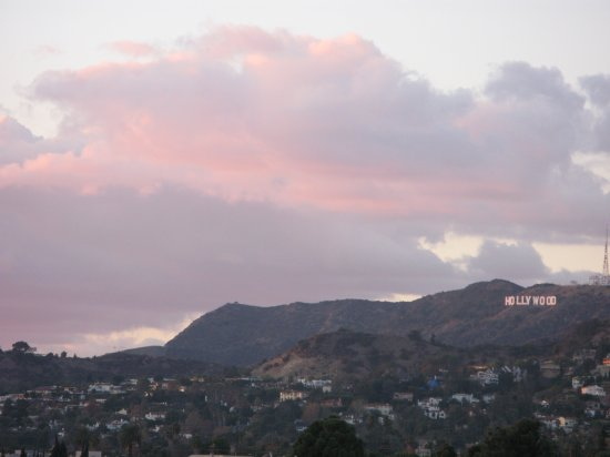 Hollywood sign at golden hour