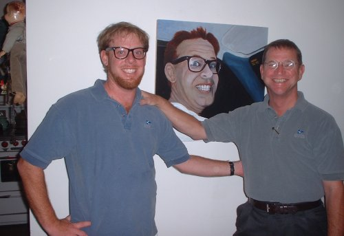 Joe and J with their new painting