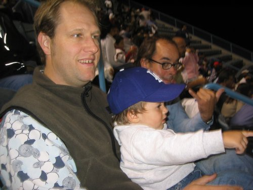 Johnny and Sean at the Dodgers Game