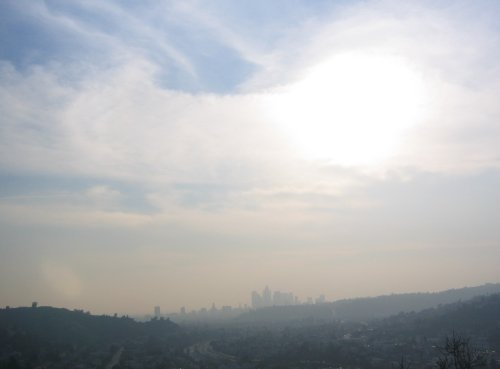 Los Angeles from the heights of Eugene Debs Park