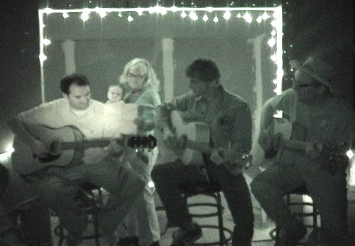 Greg, Molli, Sean, Axel, and Matt sing a goodbye song