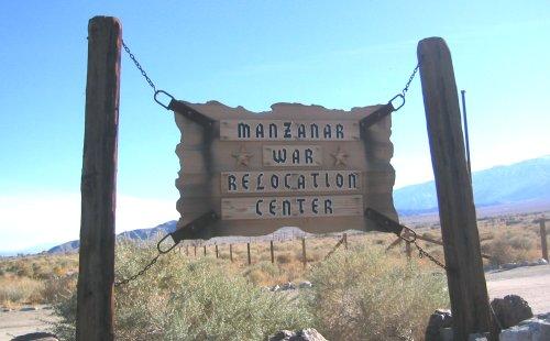 Manzanar sign