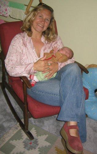 Molli holding baby Agatha