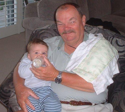 Granpa feeds Sean