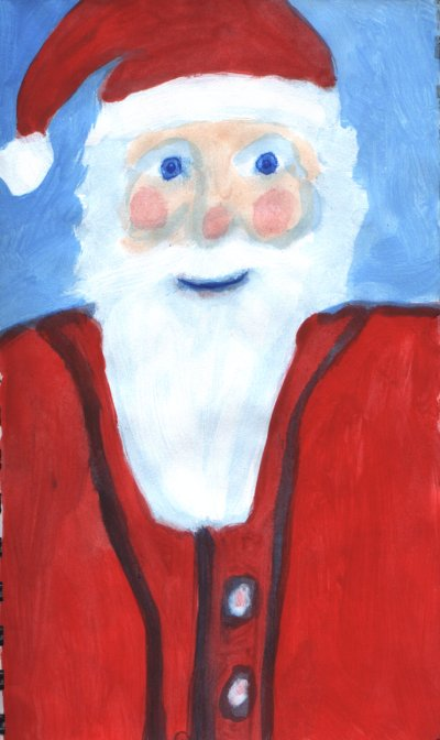 This is a painting I did of some guy with a red stocking cap on.