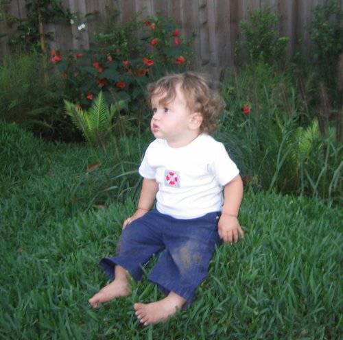 Sean in the grass