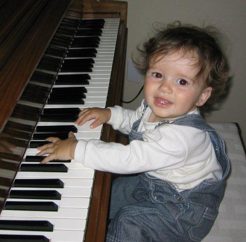 Sean at Grandma's Piano