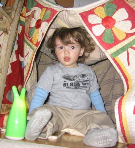 Sean in Coco's Tent