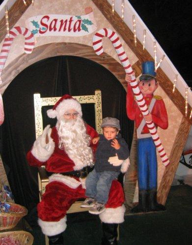 Sean with Santa