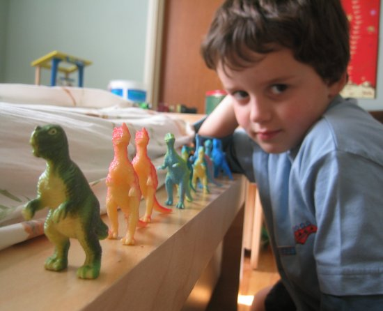 Dinos in a row