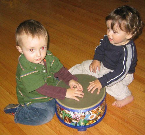 Xander and Sean on drum