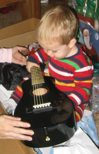 Jackson's first Guitar!!!!
